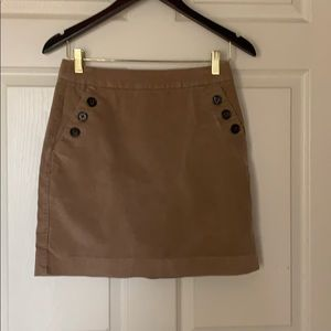 Corduroy tan skirt